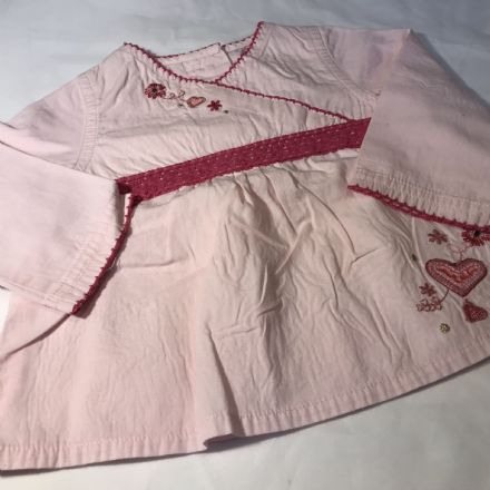 3-6 Months Pink Cotton Tunic